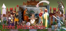 Klappkarte Weihnachtskrippe  Nonnweiler - Primstal