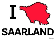 Aufkleber I ♥ SAARLAND