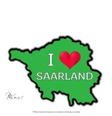 Motiv-Umhängetasche I ♥ SAARLAND - grün