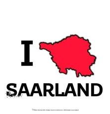 Motiv-Umhängetasche I ♥ SAARLAND
