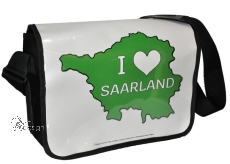 Motiv-Umhängetasche I ♥ SAARLAND - grün weiß