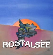 PVC-Einlege-Folie Bostalsee - Gemälde