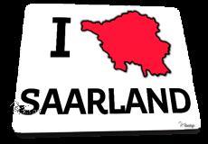 Mousepad I ♥ Saarland