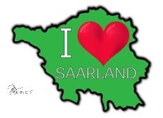 Aufkleber I ♥ SAARLAND - grün