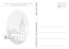 MAXI-Karte Kirchenfenster