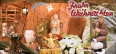 Klappkarte Weihnachtskrippe  Nonnweiler - Sitzerath