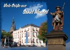Ansichtskarte Viele Grüße aus Sankt Wendel