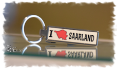 Schlüsselanhänger Flaschenöffner I LOVE SAARLAND