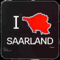 Korkuntersetzer - Motiv I ♥ SAARLAND black