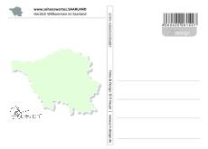 Postkarte sehenswertes.SAARLAND