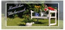 Glückwunsch - Blumenbank