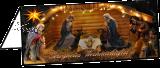 Klappkarte Weihnachtskrippe Nonnweiler