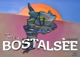 Postkartenaufkleber Bostalsee Gemälde