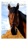 Postkarte Pferd - ungeschminkt