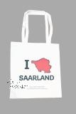 Stofftasche I LOVE SAARLAND