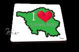 Mousepad I ♥ Saarland grün