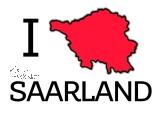 Postkarte I ♥ SAARLAND