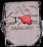 Gym Bag - silber I ♥ SAARLAND