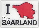 Magnet I ♥SAARLAND