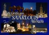 Ansichtskarte Saarlouis-3 bei Nacht