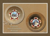 MAXI-Karte runde Kirchenfenster