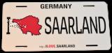 US-Autokennzeichen I LOVE SAARLAND
