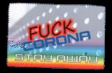 Glasreinigungstuch FUCK CORONA  1