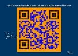 Postkarte Geburtstag - QR-Code