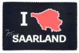 Glasreinigungstuch I LOVE SAARLAND - black