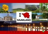 Postkarte I ♥ SAARLAND - Fotos