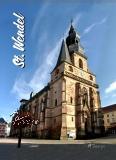 Glas-Deko-Magnet St. Wendel - Dom