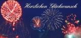 Glückwunsch - Feuerwerk