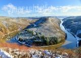 Ansichtskarte Saarschleife im Winter