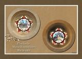 Ansichtskarte runde Kirchenfenster